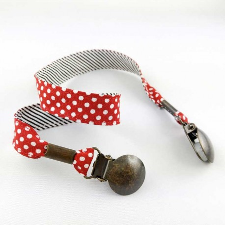 attache-serviette-adulte-pois-rouge