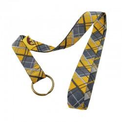 Tour de cou porte-clefs Écossais gris