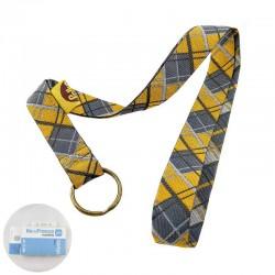 Ruban Écossais gris et jaune