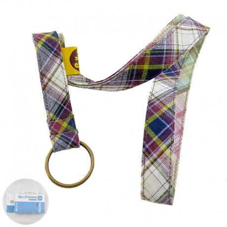 porte-badge-ecossais-violet