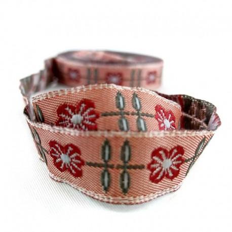 ruban-jacquard-fleur-rouge